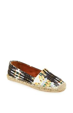 Floral prints are in! Love the new Rebecca Minkoff espadrille.