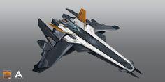 ArtStation - Kusanagi_aircraft concept, Archer Ding