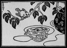 "Sparrow, Stickleback, and Yasha: Boris Artzybasheff illustration from ""Verotchka's Tales,"" by Dmitry Mamin-Sibiryak (1922)"