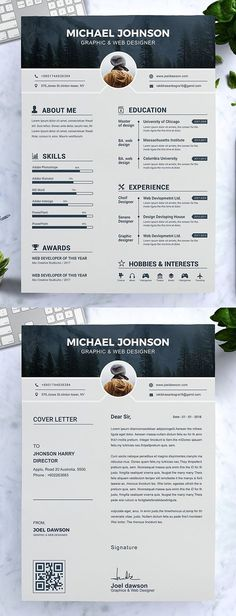 Modern Resume Template / CV Template If you like this design. Check others on m - Customer Service - Ideas of Selling A Home Tips - Modern Resume Template / CV Template If you like this design. Check others on my CV template board Thanks for sharing! Modern Resume Template, Best Resume Template, Creative Resume Templates, Free Resume, Resume Cv, Creative Resume Design, Cv Design Template Free, Professional Resume Template, Simple Cv Template