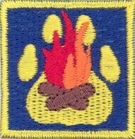 Cub Scouts/The Camp Fire merit badge; Partiotuote, Nuotio-jälki , Sudenpentujen Nuotio-jälki