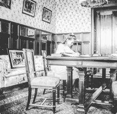 Grand Duchess Maria Nikolaevna of Russia  in the classroom of the Livadia Palace. by historyofromanovs