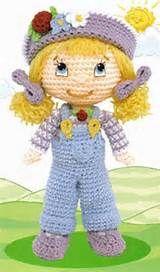Strawberry Shortcake Dolls to Crochet Dolly Parton, Strawberry Shortcake Doll, Crochet Flowers, Tweety, Doll Clothes, Hello Kitty, Barbie, Crochet Hats, Diy