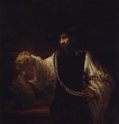 Aristotle with a Bust of Homer  |  1653  |  Rembrandt (Rembrandt van Rijn) (Dutch)  |  Oil on canvas  | The Metropolitan Museum of Art