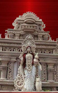 Saraswati Murti, Saraswati Goddess, Thermocol Craft, Nitish Kumar, Ancient Greek Sculpture, Mata Rani, Radha Krishna Images, Beautiful Gif, Hindu Art