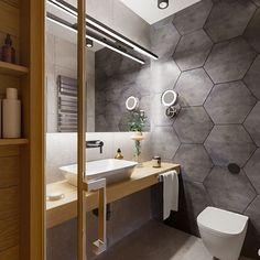 Bathroom Interior Design, Home Interior, Small Grey Bathrooms, Downstairs Toilet, Master Bathroom, Decoration, House, Home Decor, Studio Apartment