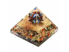 Chakra Stone Orgone Pyramid With Lapiz Lazuli Markaba online from Vedic Vaani in USA