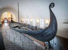 Picture of the Viking Ship Oseberg in the Viking Ship Museum, Norway