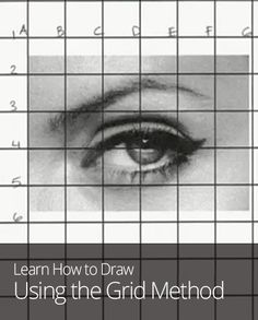 If you're going for realism in your artwork, this grid method will be your best friend! Drawing Grid, Drawing Skills, Drawing Lessons, Drawing Techniques, Art Lessons, Painting & Drawing, Art Handouts, Drawing Exercises, Art Curriculum
