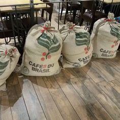 Riciclare i sacchi di juta #juta #riciclocreativo #riciclare #dettaglihomedecor