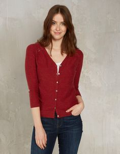 Buy Deep Claret Organic Cotton Rose Cardigan today from FatFace. FREE UK Delivery on all orders over £60.
