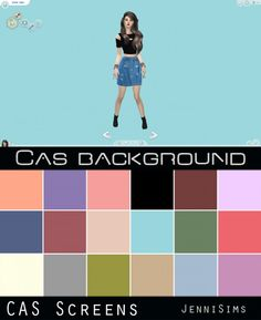 Jenni Sims: CAS Screens My Colors -18 Cas background • Sims 4 Downloads