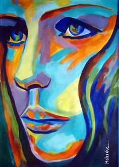 """Saatchi Art Artist: Helena Wierzbicki; Acrylic 2013 Painting """"""""Between herself and the world""""- SOLD"""""""