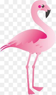 Gráfico de vetor de desenhos animados do Flamingo