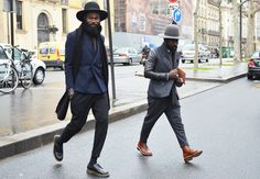 Only in Paris. From GQ. But I had to pin it. Great effortless-looking style on these two.