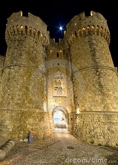 CASTLES OF GREECE | Castle Of The Knights At Rhodes, Greece Stock Image - Image: 13115051
