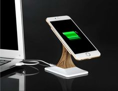 Portable 360 Rotating Magnetic Cell Phone Stand Holder Qi Wireless Charger for Galaxy S6/S6 Edge/Nexus 5/G3/G2/Lumia 928/920/HTC