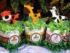 Safari diaper cake minis