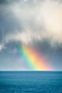 tulipnight: Rainbow at Sea by Kai Bergmann