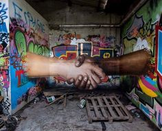 "Street Art 360 ‏/ "" Graffiti is only sharing "" by Jeaze Montpellier , France 3d Street Art, Street Art Graffiti, Street Art News, Amazing Street Art, Street Artists, Amazing Art, Banksy Graffiti, Awesome, Illusion Kunst"