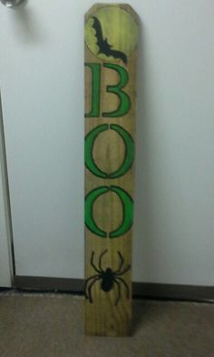 My fence board sign.The letters and moon glow in the dark.