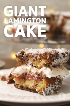 We upsized lamingtons into a cake 🎂 Come Dine With Me, Mini Apple, Crazy Cakes, Party Treats, Treat Yourself, Foodies, Cheesecake, Frames, Cooking Recipes