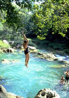 Belize Rainforest | IZE Belize photos - swimming Blue Creek Toledo district Belize