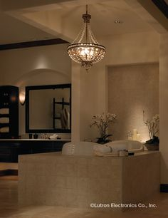 The California experience center presents a dazzling array of light control and shading systems for your bathroom. #Lutron http://www.lutron.com/en-US/Education-Training/Pages/LCI/ExperienceCenter.aspx