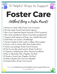 15 Helpful Ways to Support Foster Care Without Being Foster Parents Foster For Kids Giving