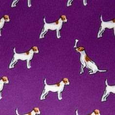 The #Terrier #printed #tie features a colourful terrier #pattern in contrasting colours that will #brighten up your #shirts. #ThomasPink