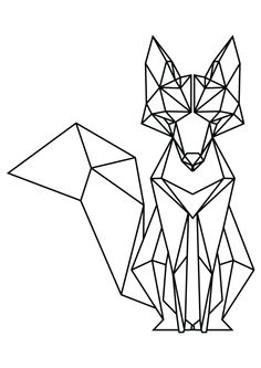 Tattoo Geometric Fox Origami 67 Ideas For 2019 Tape Art, Geometric Fox, Geometric Drawing, Geometric Designs, Geometric Tattoos, Geometric Origami, Origami Design, Geometric Lines, Animal Drawings