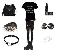 """Smells like the only nirvana song you know...."" by fashionprincess2014 ❤ liked on Polyvore featuring River Island, MICHAEL Michael Kors and Manic Panic"