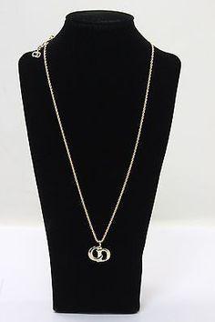 Authentic Christian Dior   Gold  Tone  Necklace  11396J - http://designerjewelrygalleria.com/christian-dior/authentic-christian-dior-gold-tone-necklace-11396j/
