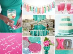 aquamarine and hot pink inspiration board
