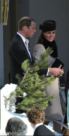 At a wedding William and Kate