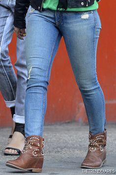 What she wore: Jacket: IRO 'Ashville' Moto Leather Jacket - Net-A-Porter | Shopbop | Forward By Elyse Walker | Nordstrom | Singer 22 | Saks Fifth Avenue | FarFetch | SSENSE | My-Wardrobe | Matches Pants: Rag & Bone/JEAN The Skinny Jeans - Shopbop | Rag & Bone | Saks Fifth Avenue | Forward By Elyse Walker | Bloomingdales Shoes: Isabel Marant 'Caleen' Studded Boots - Net-A-Porter | Forward By Elyse Walker | Barneys…