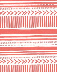INSTANT DOWNLOAD- Hand Drawn Pattern Print 8x10 Coral