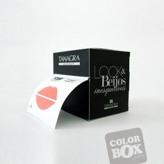 Packaging design for a lipstick and lipgloss free sample display #packaging #PackagingDesign