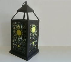 'Alhambra' Stained Glass Lantern - by Smash Glassworks [SOLD]