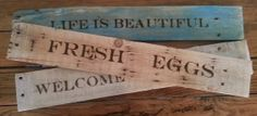 Custom Sign on Reclaimed Wood. Pick your finish by HorseshoesRusted- Hand Burned, Pallets, eco friendly, reclaimed wood, repurposed wood, signage, wood burning, wood burnt, hand painted. Personalized message or quote!