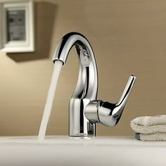 Single Handle Centerset Solid Brass Chrome Finish Bathroom Sink Tap