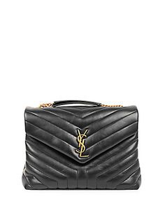 d7b2e973ca0f Saint Laurent Medium Lou Lou Leather Shoulder Bag