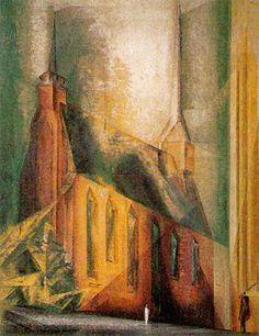 Lyonel Feininger, Klarissenkirche. 1927, Oil on canvas, 100x80cm, Galerie Thomas, Zurich.