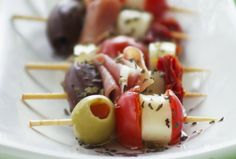 Antipasto Kabob -- It's all about the spice, so remember to season with Polaner spices - polanerspreads.com #appetizer #party #recipe