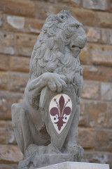The famous Marzocco Lion statue - one of the symbols of Florence