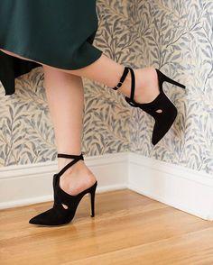 WEBSTA @ sarahflint_nyc - Close up of the Tanya in black! #sfcorneroffice #shoesdaytuesday