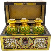 A RARE 19th Century High Quality Palais Royal `Boulle Work` and Mother of Pearl Perfume Casket