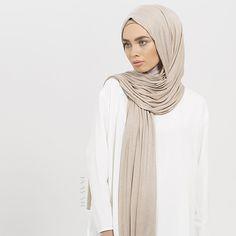 INAYAH | Washed Mink Maxi Jersey #Hijab + Nude Turtle Neck #Hijab #Cap - visit www.inayah.co