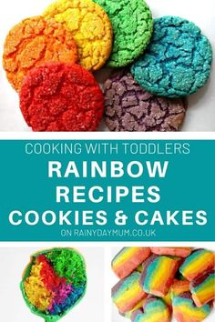 Simple and easy yummy rainbow recipes for treats and snacks to cook at home with your toddlers and preschoolers. Rainbow Treats, Rainbow Food, Cooking With Toddlers, St Patrick Day Treats, Cook At Home, Spring Recipes, Infant Activities, Toddler Preschool, St Patricks Day
