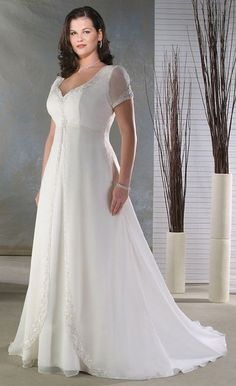 simple-Dresses-for-Older-Brides-2014.jpg (438×717) A teeny bit more lace and long sleeves and this would be PERFECT